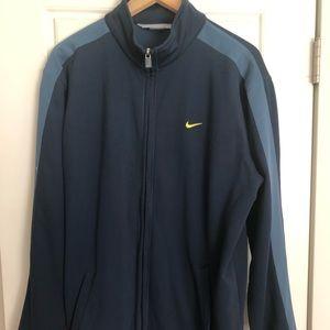 Nike XL Fleece Track Jacket Blue
